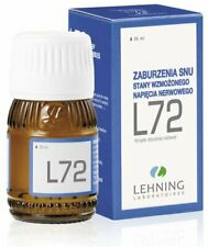 LEHNING L-72  30ml drops stress sleep disorders depression anxiety insomia