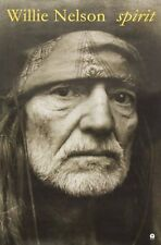 Willie Nelson 1996 Spirit Tour Island Records Heavy Stock Promo Poster Original