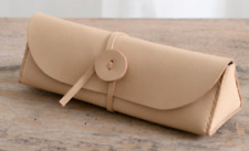 women Cosmetic storage bag Makeup box case brush pencil cow Leather white z635