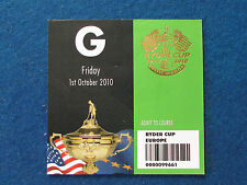 RYDER Cup 2010-CELTIC MANOR-MARSHAL ospite TICKET - 1/10/10