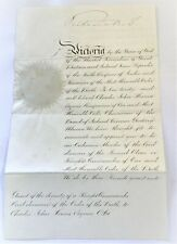 More details for victoria ri signed document knighthood for c j herries balmoral 7 oct 1880
