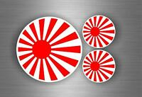 3x Sticker flag rising sun japan motorcycle car tuning jdm hand bike biker kamik