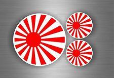 3x Sticker flag rising sun japan motorcycle car tuning jdm hand bike biker