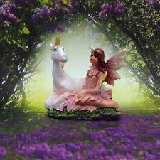 Fairy Unicorn Figurine Glitter Mythical Fantasy Fairy Garden Diorama Decor A