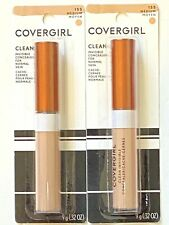 2 New Covergirl Clean Invisible Normal Skin Concealer #155 Medium