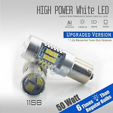 2X 1156 50W 1300LM High Power 3535 Chip LED White Reverse Back Up Lights Bulbs