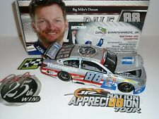 """2017 Dale Earnhardt Jr #88 25th Career Win 1/24 Scale """"Flashcoat Silver"""" Diecast"""
