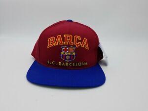 Vintage FC Barcelona BARCA Snapback Hat Cap Official Licensed Product NOS