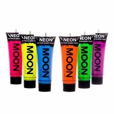 Moon Glow Intense Neon UV Face & Body Paint Festival Rave Party Set of 6 x 12ml