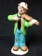 Vintage FLAMBRO Emmett Kelly Jr Clown 1984 Clown Playing Violin