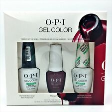 OPI GelColor - ProHealth Top Coat, Base Coat & Malaga Wine - 3 Piece Gift Set