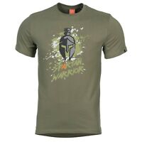 Pentagon Spartan Warrior Tactical Military Army Short Sleeve Crew T-Shirt Green