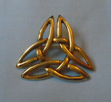 Costume Jewellery Gilt Celtic Brooch approx Length 4 cm Mystic Symbol Free P&P