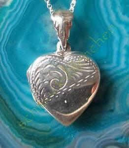 Pendentif Cœur à Ouvrir Sterling Argent 925 Cœur Symbole Le Amour