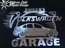 Volkswagen Jetta Metal Garage Sign / Any Name On Top / 99-05 3