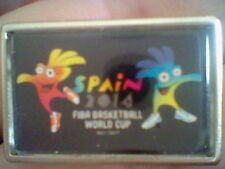 BASKETBALL FIBA WORLD CUP SPAIN 2014   BADGE  RARE