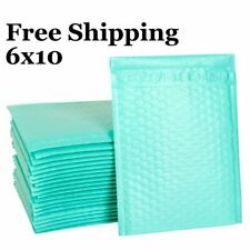 1-500 #0 6x10 Poly ( Teal ) Color Bubble Padded Mailers Fast Shipping