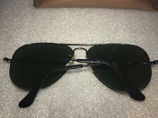 Vintage Original USA B&L Ray Ban Aviator Vintage Black Sunglasses 58 14