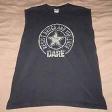 Vintage DARE Drugs Violence Awareness MUSCLE SHIRT Adult Sz L Police School Mens