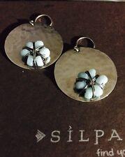 Silpada .925 Sterling Silver Quartzite Flower Earrings- NEW!