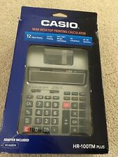Casio HR-100TM Plus Mini Desktop 2 Color Printing Calculator NEW Open Box
