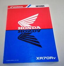 Taller Manual Honda XR 70 R Desde 1996