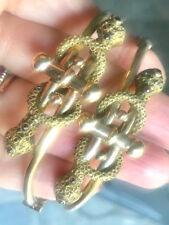 10k ROSE GOLD SNAKE VICTORIAN PAIR OF BRACELETS BRACELET W RUBY RUBIES RARE