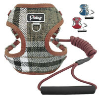 Front Lead Small Dog Harness&Leash Foam Handle Mesh Padded Pet Puppy Cat Vest S