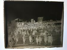 More details for antique glass plate negatives of large crowd marches  religion related