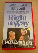 RIGHT OF WAY VCL Dummy VHS PAL Pre Cert RARE Video Bette Davis, James Stewart.