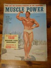 MUSCLE POWER bodybuilding magazine CLARENCE ROSS 11-57