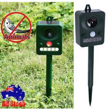 SOLAR Ultra Sonic Garden Deterrent Repeller Cat Dog Fox Bird Scarer Pest Control