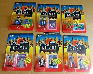 SET OF 6 x ERTL  BATMAN ANIMATED  DIE-CAST FIGURES NEW/UNOPENED 1992 FREE UK P/P