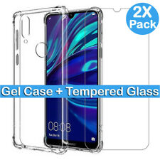 For Huawei Tempered Glass Screen Protector P20 30 Pro Lite Y6 Y5 Y7 Y9 2019 Case