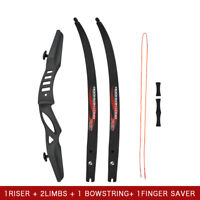 """60"""" Recurve Bow ILF Competition Style Archery Beginner Target Hunting Practise"""