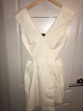 H&M Fashion Star Sexy White Backless Asymmetrical Dress Sz 6