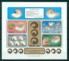 PALAU *1988* M/Sheet (5 stamps)* MNH** Nautilus - Mi.No BL5