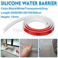 50-200CM Foldable Threshold Bathroom Kitchen Water Stopper Dam Shower Barrier L