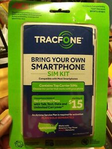 TracFone Universal SIM Activation Kit Bring Your Own Phone 4g LTE Coverage