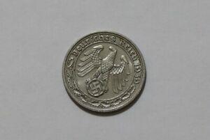 GERMANY (Third Reich) 50 Reichspfennig 1939 A SHARP DETAILS B38 #3229
