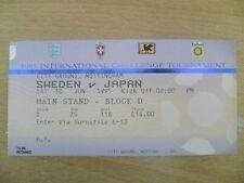 Tickets/ Stubs-1995 Umbro Cup/International Challenge Tournament- SWEDEN v JAPAN