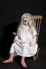 ROCKING GRANNY WITCH OLD HAG WOMAN ANIMATED HALLOWEEN HAUNTED PROP SEE VIDEO