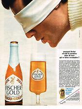 PUBLICITE  1968   FISCHER GOLD  bière