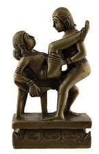 Figurine statue erotique Kamasutra en laiton Inde Betise Curiosa Clo9 K025