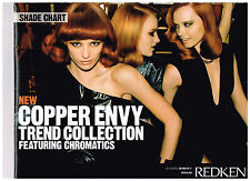 Redken Color Chromatics Copper Envy Hair Color Shade Chart NEW swatch