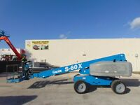 "2011 GENIE S60-X  TELESCOPIC ""60 FT"" BOOM LIFT - DEUTZ DIESEL 4WD - ETR TIRES"