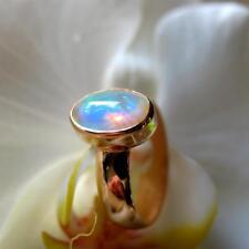 1 äthiopien opal  ring, 925 silber, grösse 57,5, 11 micron 750 gold vergoldet