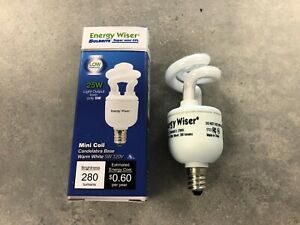 Energy Wiser 5W 120V Candelabra Base Mini Coil Compact Fluorescent Lamp