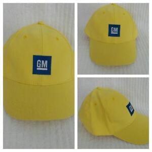 GM Logo Baseball Hat Embroidered Adjustable YELLOW