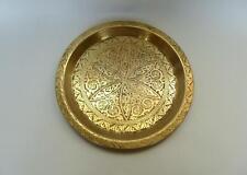 Ziselierter Teller Tablett Persien um 1900 Bronze Messing